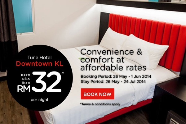 Tune Hotel Downtown KL Promotion From RM32 | TuneHotel Promotion