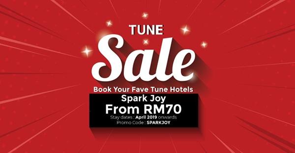 Tune Hotels Spark Joy Sale   TuneHotel Promotion